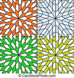 the four seasons; abstract patterns