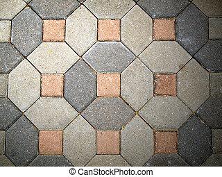 The fragment of sidewalk