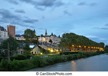 The French city Pau at sunset