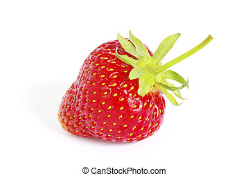 strawberry - The fresh strawberry isolated on white...