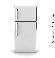 The fridge - Illustration of a new fridge on a white...