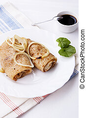 The fried pancakes with meat