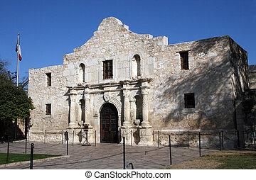 Alamo in San Antonio, Texas - The front of the Alamo in San...