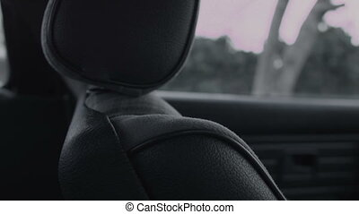 The front seat in the car