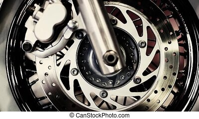 the front wheel of a motorcycle - the front wheel of the new...