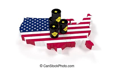 The fuel energy oil USA. Barrel of oil in the stock market....