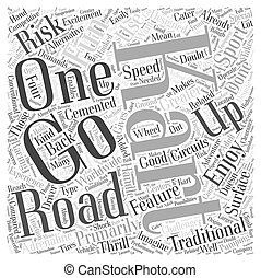 The Fun of Off Road Karting Word Cloud Concept