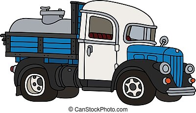 The funny classic dairy tank truck
