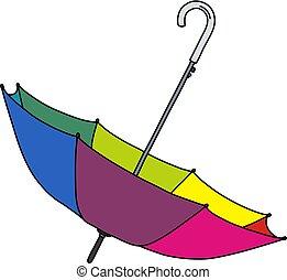 The funny color umbrella