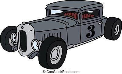 The funny gray hotrod