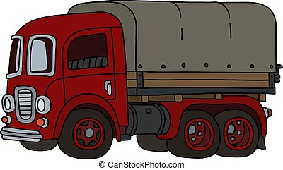 The funny old red truck