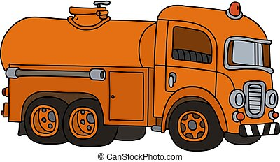The funny old tank truck