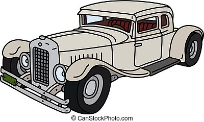 The funny vintage white car