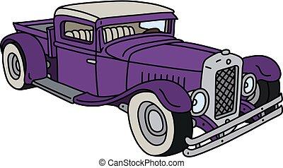 The funny violet hotrod
