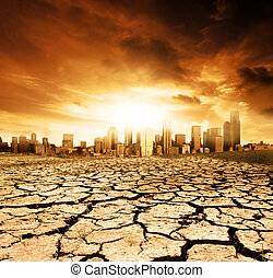 The Future - Global Warming Concept Image