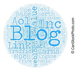 The Future Value Of Your Blog text background wordcloud concept