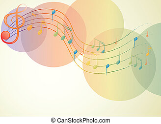 The G-clef and the musical notes - Illustration of the...