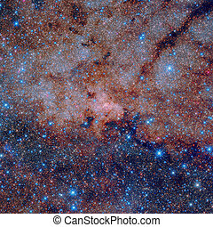 The galactic centre of the Milky Way. Infrared image. - The...