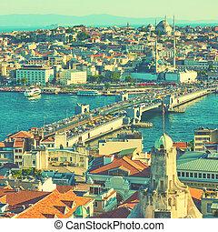 The Galata Bridge and Fatih in Istanbul - The Galata Bridge...