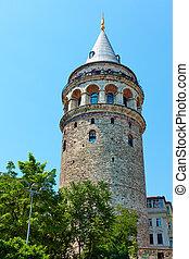 Galata Tower - The Galata Tower in Istanbul, Turkey
