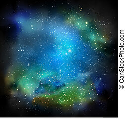 Space with many stars. Eps 10