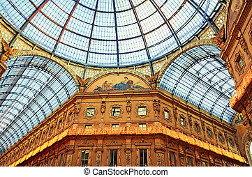 The Galleria Vittorio Emanuele II in Milan.