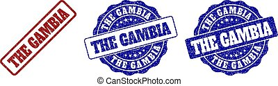 THE GAMBIA Grunge Stamp Seals