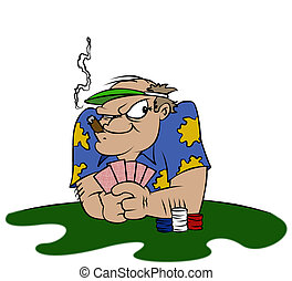 The Gambler - A poker player about to make his move.