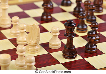 The game of chess - Detailed photo of the chess board game
