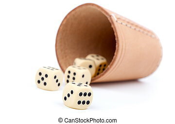 The game of dice, on white background