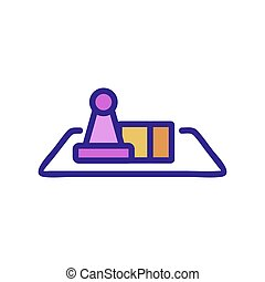 the game table icon vector outline illustration - the game ...