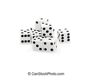 The gaming dices over white