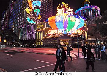 The Gaming Industry of Macao - MACAU - FEB 20:Visitors...