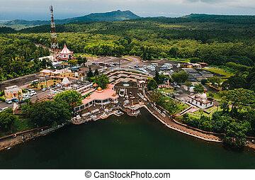 The Ganga Talao Temple in Grand bassin, Savanne, Mauritius...