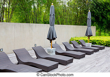 The Garden furniture by the pool