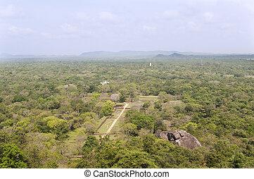 The gardens of Sigiriya, Sri Lanka