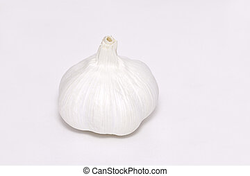 the garlic on paper background