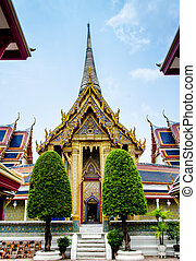 The gate to church of Thai temple