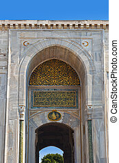 The Gates in Topkapi Palace at Istanbul Turkey