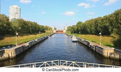 The gateway on the Moscow Canal, constructed between 1932...