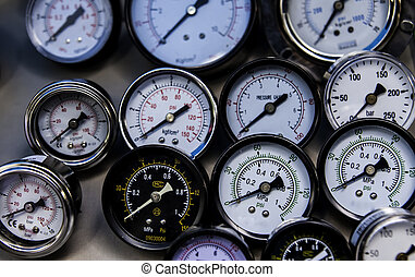 The gauges - The group of pressure gauges in the various ...