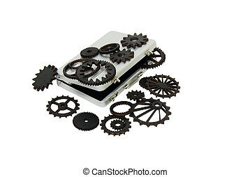 The gears of business - Various gears with interlinking...
