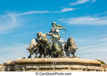 The Gefion fountain in Copenhagen