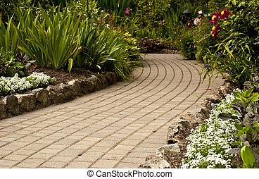 The Gentle Garden Path - A quiet path through a garden