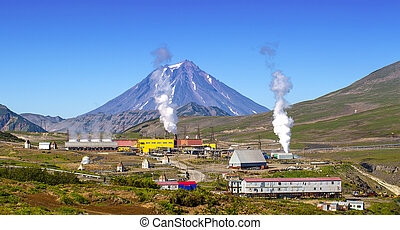 The Geothermal power station alternative energy on Kamchatka...