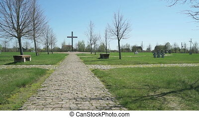 The German military memorial cemetery in Russia