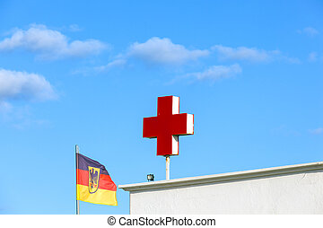 the German red cross symbolizes a hospital or a doctor - the...