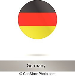 Germany round icon with shadow