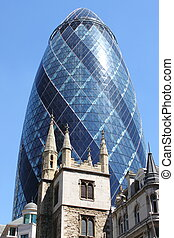 The Gherkin building in London - The famous Gherkin building...