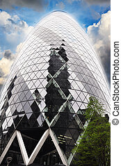 The Gherkin building in London,  U.K.